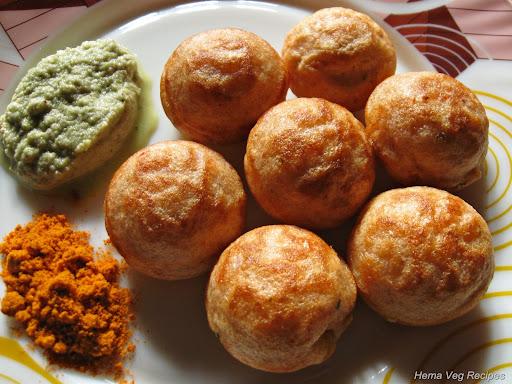 Spicy Paddu or Paniyaram