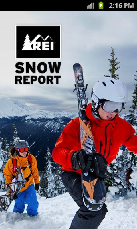 REI Snow Report - screenshot