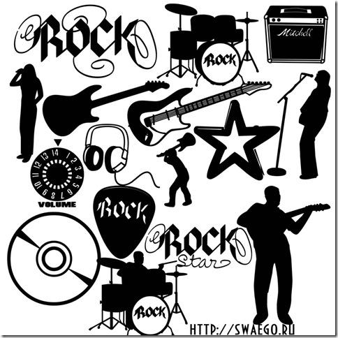 Кисти музыка,музыкальные инструменты,названия групп для Photoshop.Скачать бесплатно.