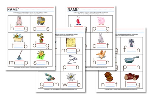 Printables Middle Sound Worksheets k4 curriculum middle vowel sounds confessions of a homeschooler whichvowelpromo click here to download the worksheets