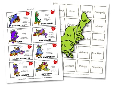picture relating to States and Capitals Flash Cards Printable referred to as U.S. Geography - Confessions of a Homeschooler