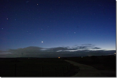 Venus - Mars - Plaides aligment :: 52 second exposure