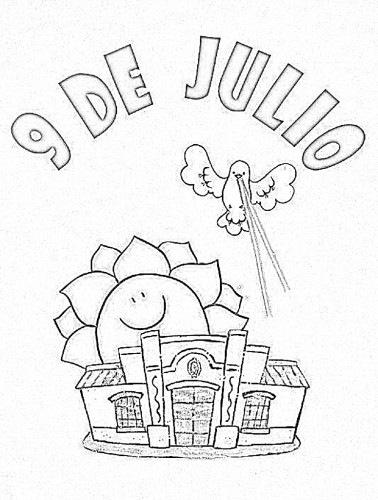 9 de Julio independencia argentina dibujos para colorear