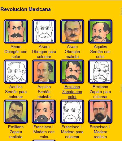 Personajes De La Revolución Mexicana Para Colorear