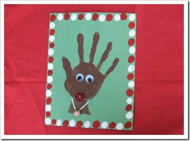 Manualidades navidad preescolar con huellas de manos - Manualidades de tarjetas de navidad para ninos ...