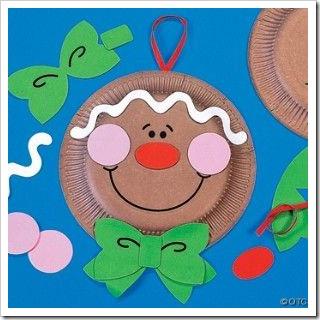 Manualidad navidad adornos hechos con platos - Manualidades para navidades faciles ...