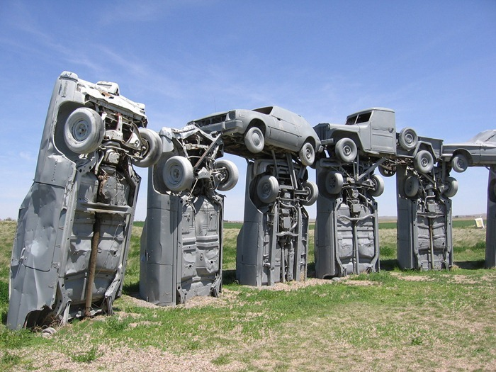 Is Cadillac A Foreign Car >> Carhenge: The Stonehenge of Vintage American Cars ...