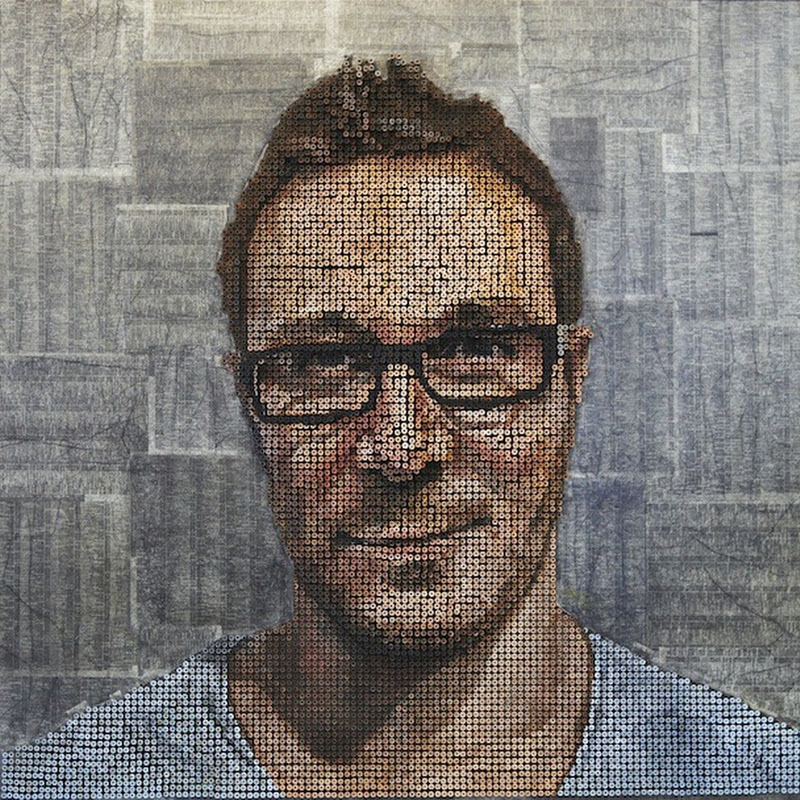 Portraits Made of Screws by Andrew Myers