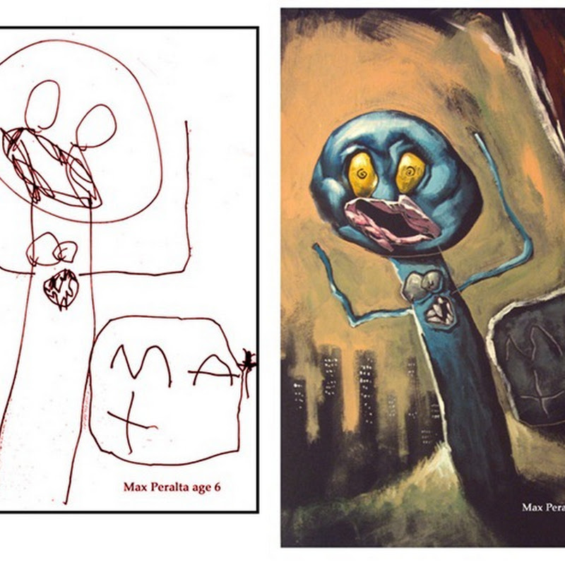 The Monster Engine: Children's Drawings Painted Realistically