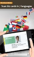 Screenshot of WorldCard Mobile