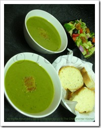 Prathy's spinach-orange soup