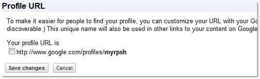 设置友好的 Google Profile 地址