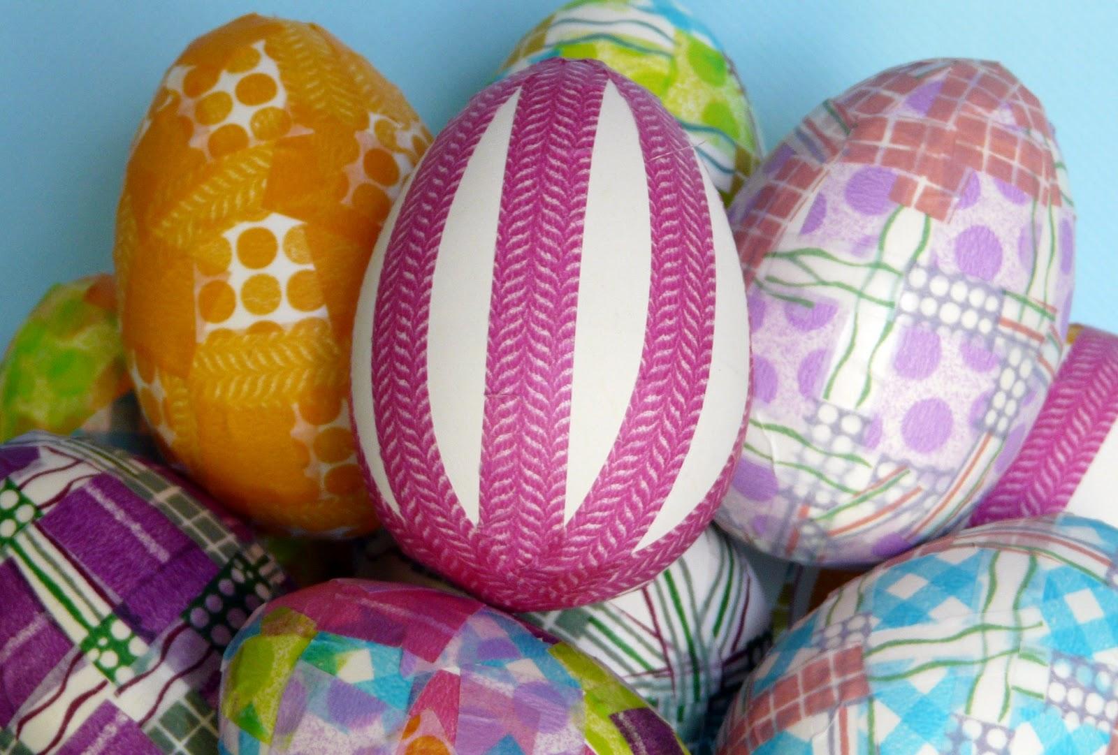 Decorating Easter Eggs Washi Tape Part Deux