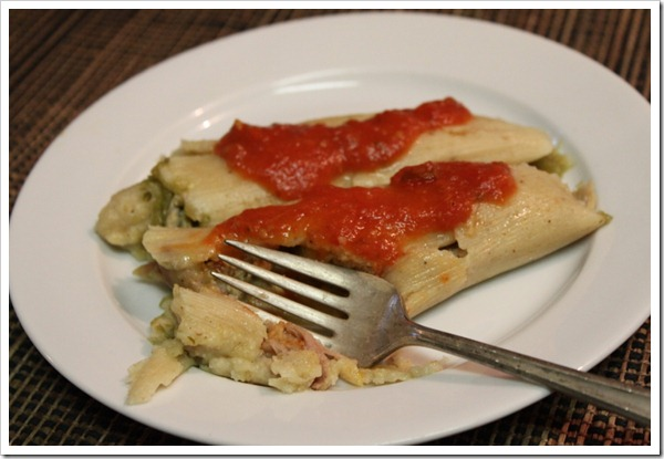 Tamales with green salsa