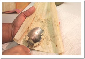 Chicken in Green Salsa Tamales