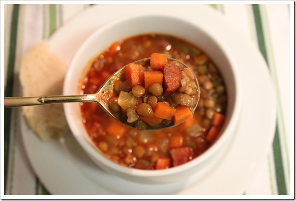 Lentil Soup with Chorizo Recipe | Receta de Sopa de Lentejas con Chorizo