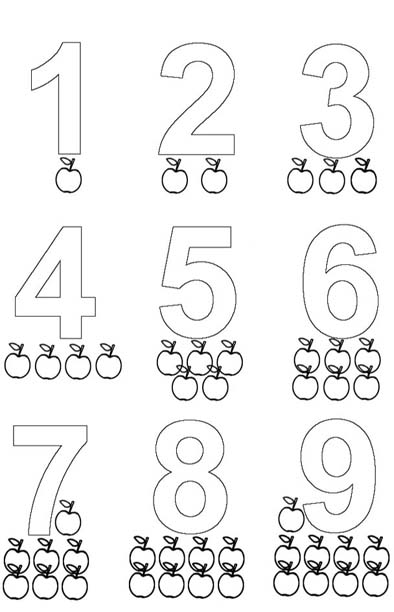 Fichas De Numeros Para Infantil