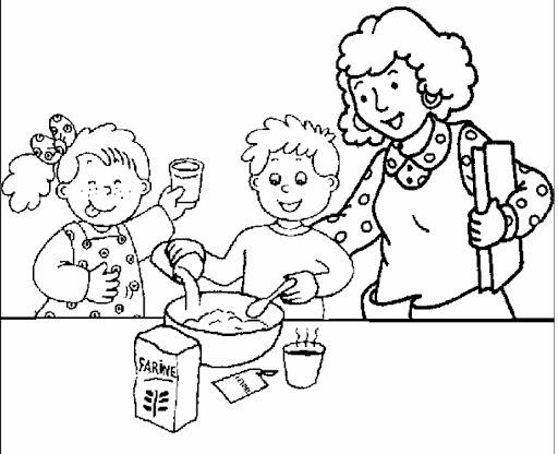 Dibujos De Recetas De Cocina Para Ninos Para Colorear: Dibujos Para Colorear Partes De La Cocina