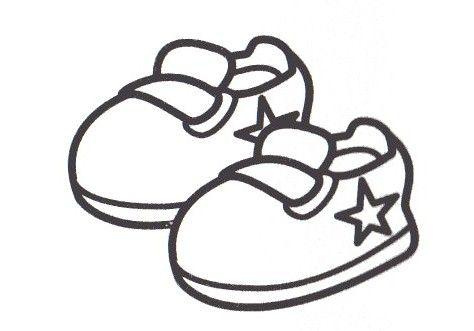 Dibujos Para Colorear De Zapatitos De Bebé Imagui