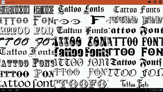 Tattoo Fonts Ideas