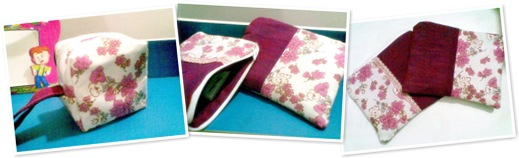 View pink pouches