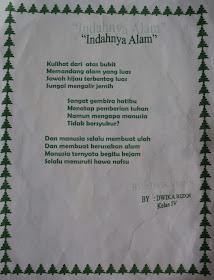 Puisi Tentang Alam Kelas 4 Koleksi Puisi