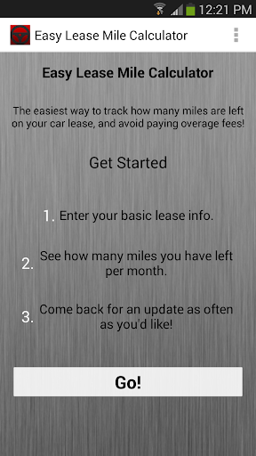 Easy Lease Mile Calculator