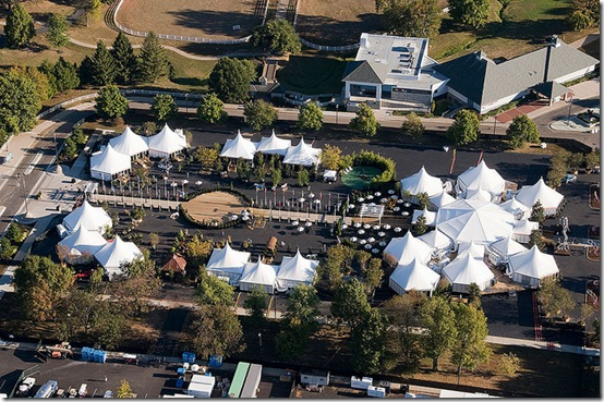 Aerial view of the Alltech Experience during the 2010 Alltech FEI World Equestrian Games in Lexington, KY.