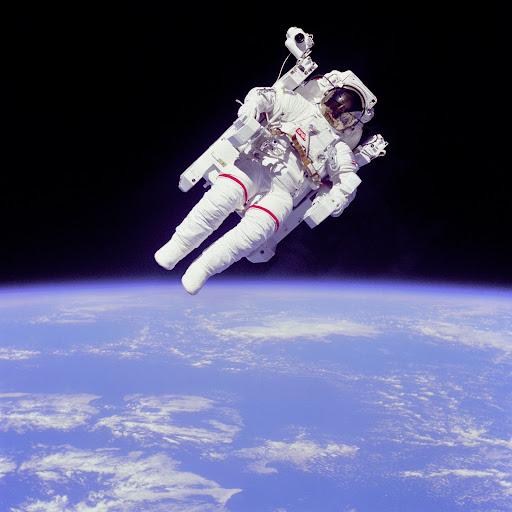 [フリー画像] 人物, 人と風景, 自然・風景, 天体・宇宙, 宇宙飛行... 著者:NASAラ