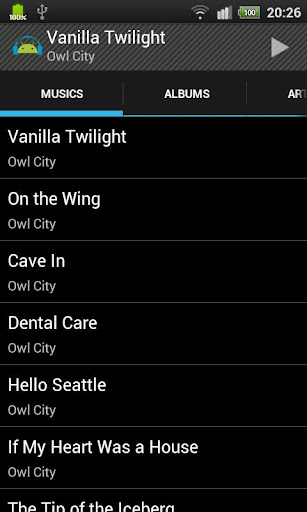 Holo Player Simple for Android 2.1 screenshots 1