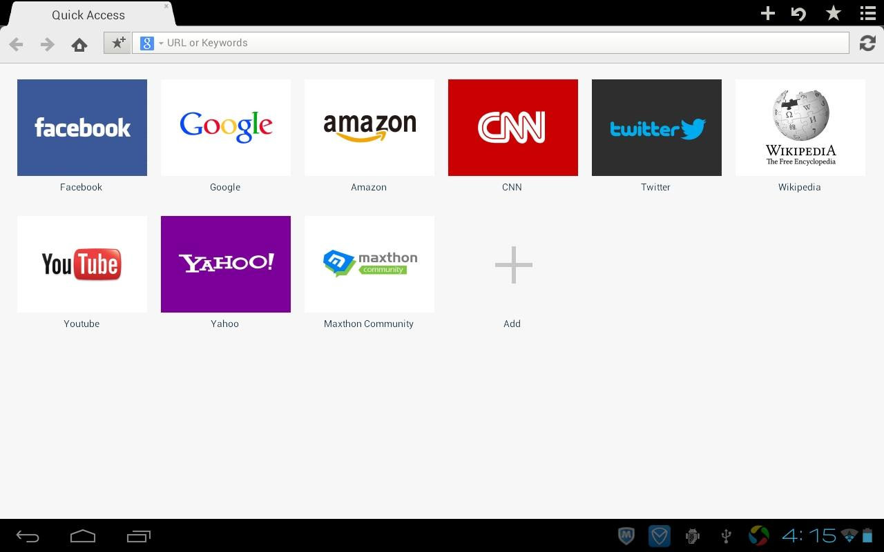 Maxthon Android Web Browser - screenshot