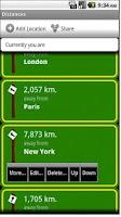 Screenshot of Distances