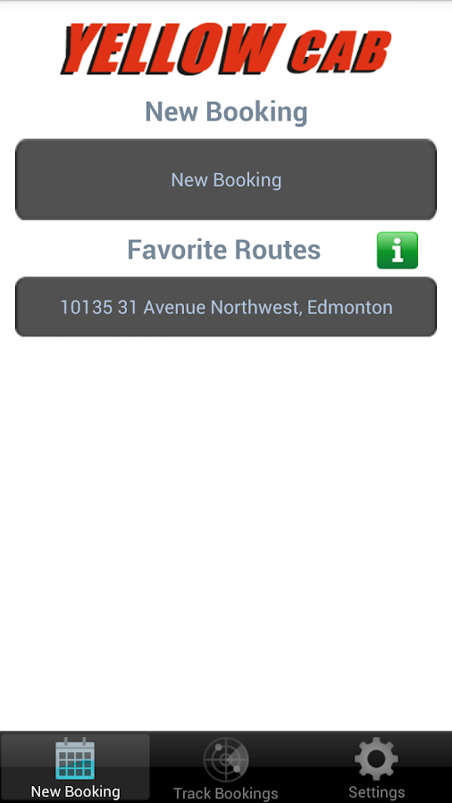 Yellow Cab Edmonton- screenshot