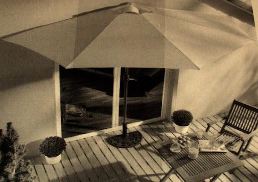 sonnenschirm halbrund beige balkon terasse neu. Black Bedroom Furniture Sets. Home Design Ideas
