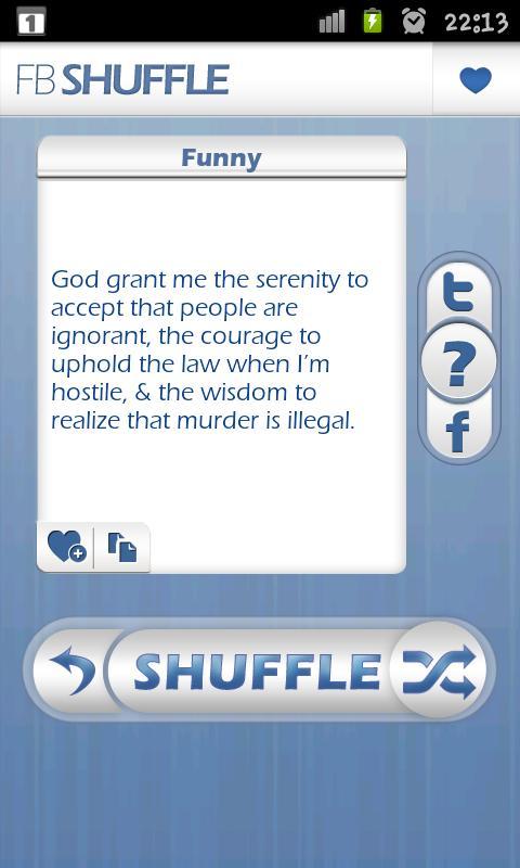 fb shuffle - screenshot