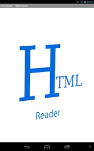 Html Reader screenshot 0