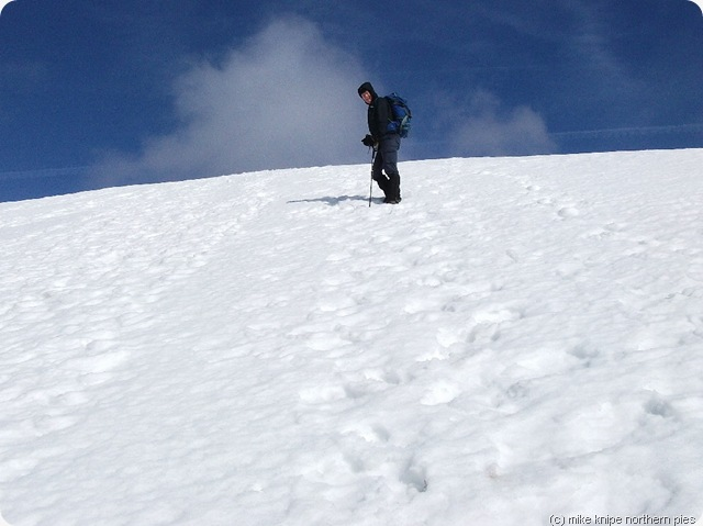 martin climbing the snow slope