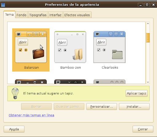 Modificar la apariencia de Ubuntu