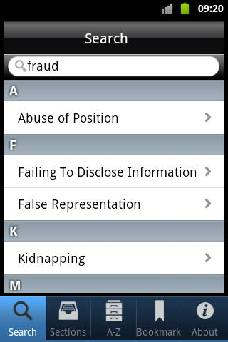 Screenshot for iPlod - UK Police Pocket Guide in Hong Kong Play Store