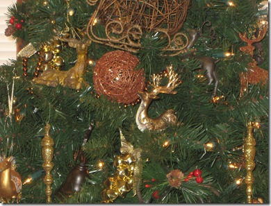 reindeer tree closeup