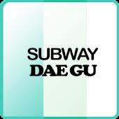 Subway map of Daegu in Korea