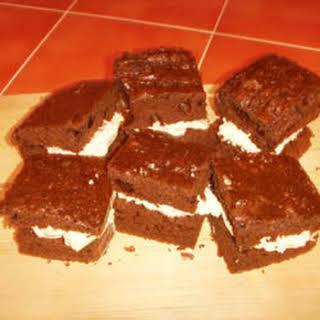 Homemade Cream Filled Individual Sponge Cakes.