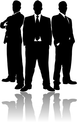 Businessmen in Black Straight On Series 1