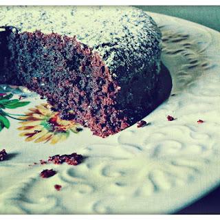 Chocolate Caprese Cake.