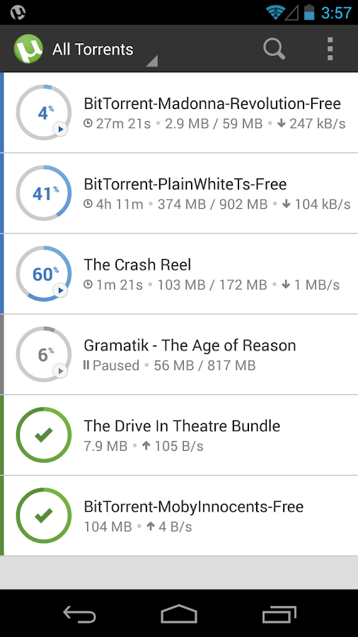 µTorrent® - Torrent App - screenshot