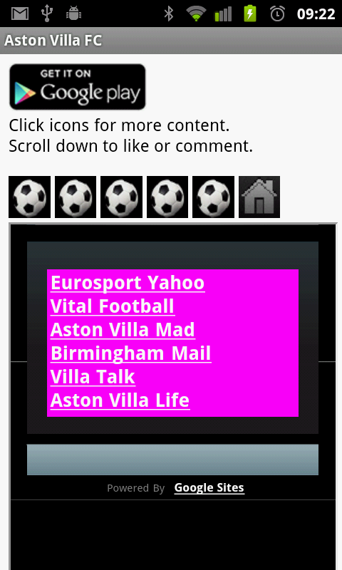 Aston Villa FC News - screenshot
