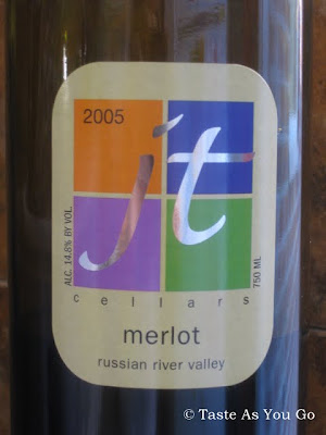2005 Merlot from JT Cellars - Russian River Valley | Taste As You Go