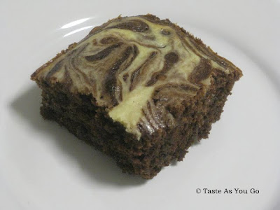 Merlot Cream Cheese Brownies - Photo by Taste As You Go
