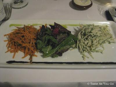 La Salade de Carottes et Céleri Remoulade & La Salade Verte Organique aux Fines Herbes at Le Paris Bistrot in New York, NY - Photo by Taste As You Go