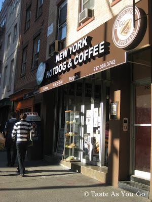 Facade of New York Hotdog & Coffee in New York, NY - Photo by Taste As You Go